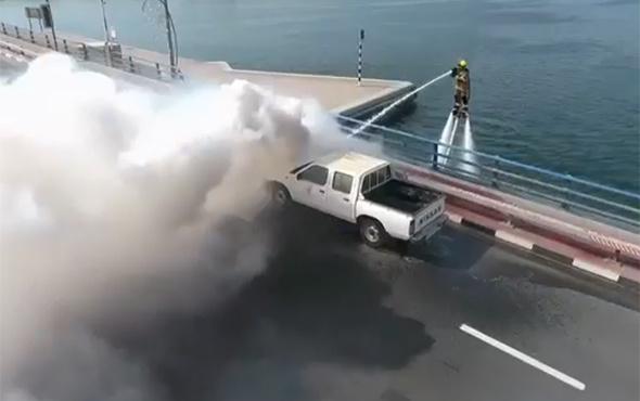 İtfaiyeciler yangına Jetpack ile müdahale edecek!