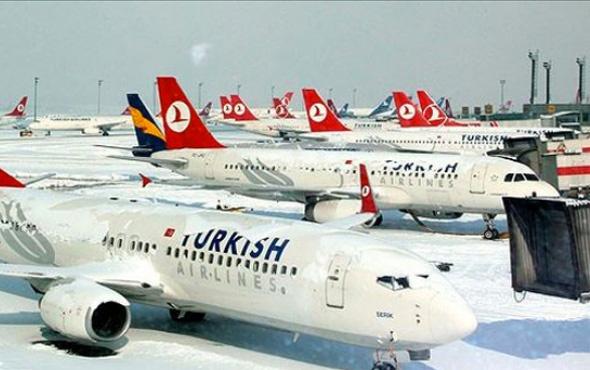 463 uçak seferi iptal edildi 26-27 Ocak 2017
