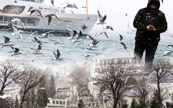 Kar geri döndü İstanbul beyazlara büründü