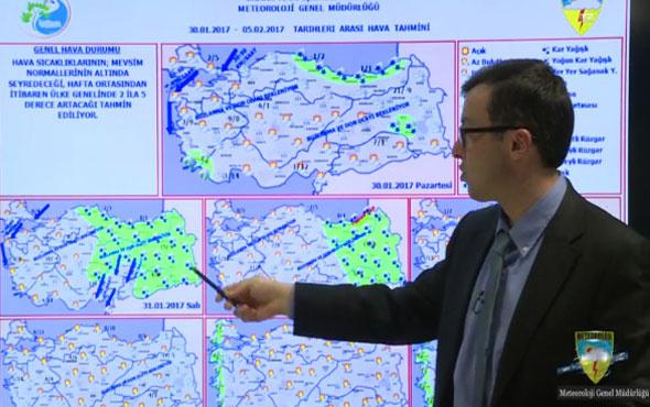 Meteoroloji 30 Ocak 2017 hava durumu