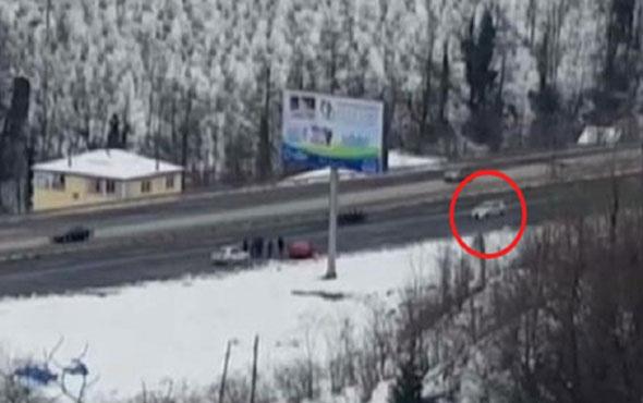 Otoyolda drift yaparak trafik güvenliğini tehlikeye düşürdü
