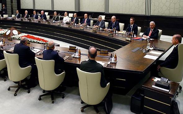 MGK'dan flaş OHAL ve Kuzey Irak kararı!