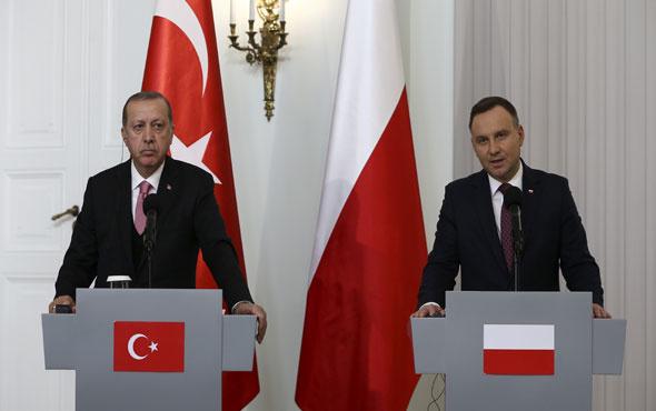 Erdoğan Polonya Cumhurbaşkanı Duba ortak basın toplantısı