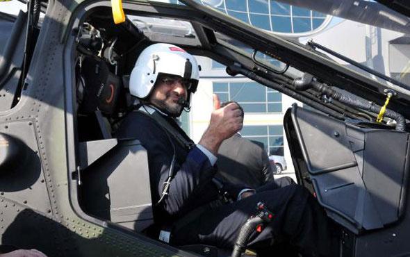 Atak helikopteriyle İstanbul turu attı