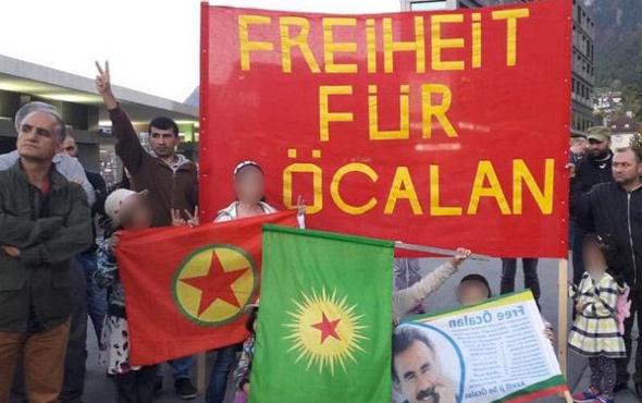 Rezalet görüntüler! PKK sokağa dökülüyor Avrupa izliyor