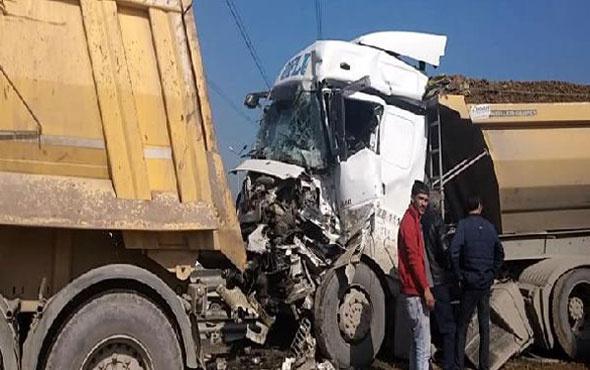 Okmeydanı'nda kaza trafik felç oldu