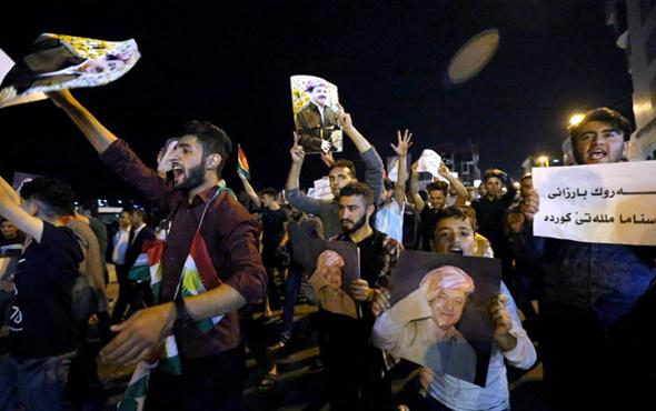 Barzani'nin ihanetle suçladığı partilerin binaları ateşe verilldi