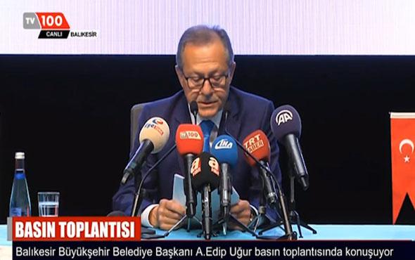 Ahmet Edip Uğur ağlayarak istifa etti işte o hali!