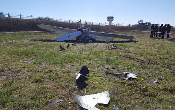 Tekirdağ'da eğitim uçağı kalkış yaparken düştü!
