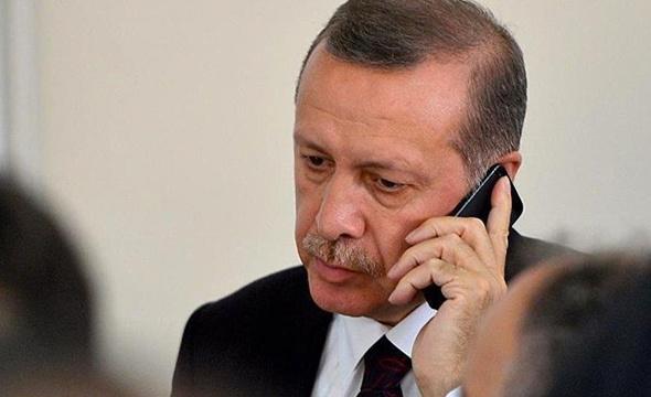 Erdoğan'dan acılı ailelere taziye telefonu