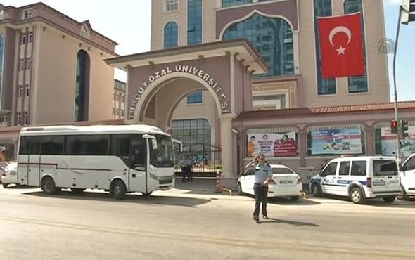 Turgut Özal Üniversitesi'nde polisi şoke eden olay!