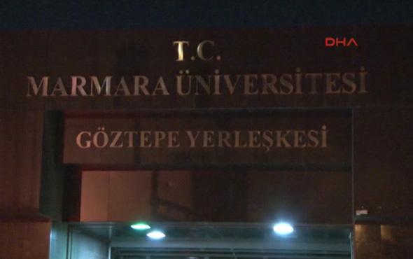 Marmara Üniversitesi'nde hareketli anlar: Silah çekti