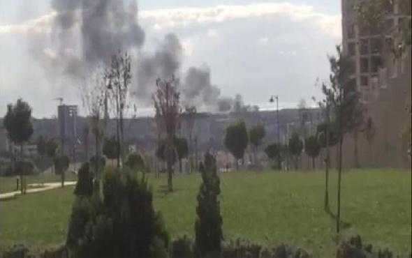 Tuzla'da benzin istasyonunda patlama olay yerinden görüntüler