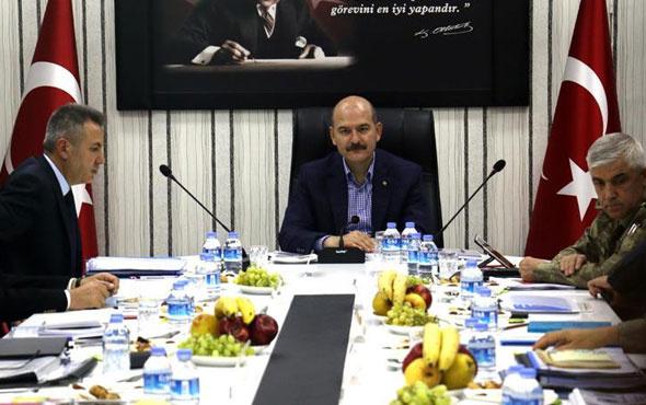 İçişleri Bakanı Soylu'dan güvenlik toplantısı