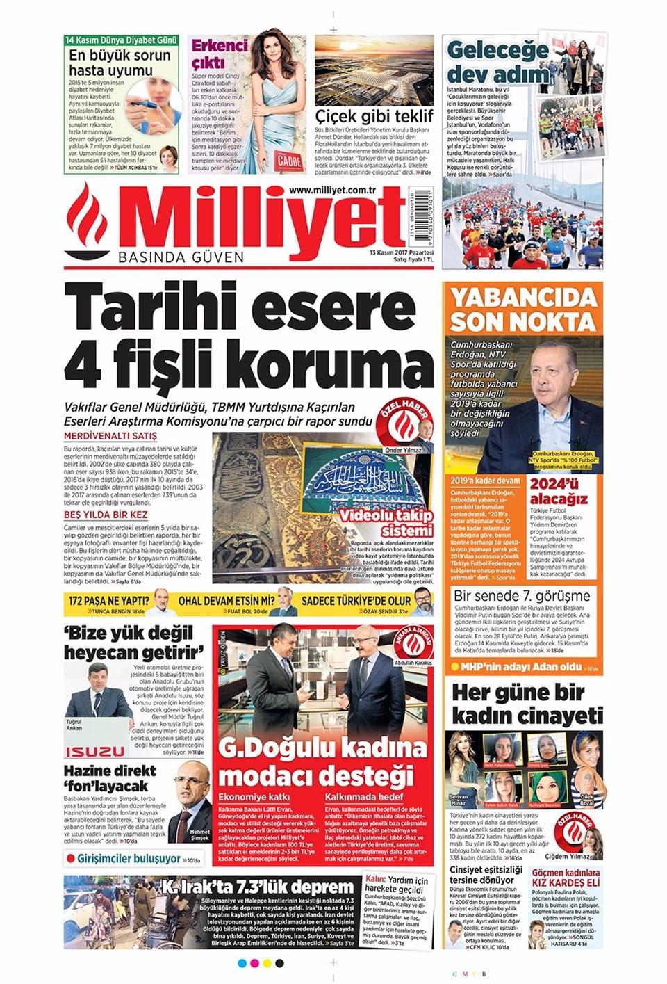 Gazete Manşetleri Fanatik Fotomaç Sözcü 13 Kasım 2017 Internet