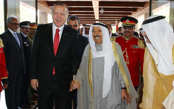 Erdoğan ve Kuveyt Emiri önünde 3 anlaşma imzalandı