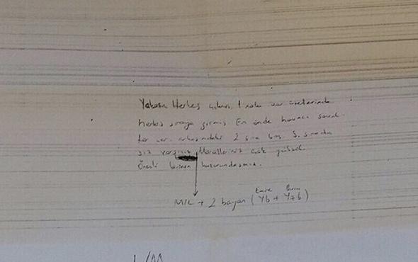 FETÖ'cü teğmen duruşmada bu notu iletirken yakalandı