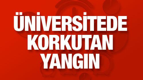 İstanbul Üniversitesi'nde korkutan yangın!