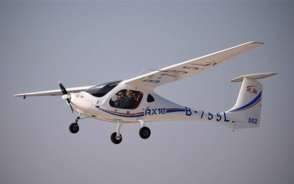 Çin'in ilk elektrikli uçağı uçuşunu yaptı