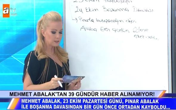 Müge Anlı Mehmet Abalak son durum boşanacağı gün kayboldu