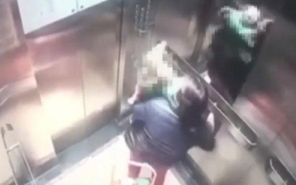 Asansörde bakıcı dehşeti