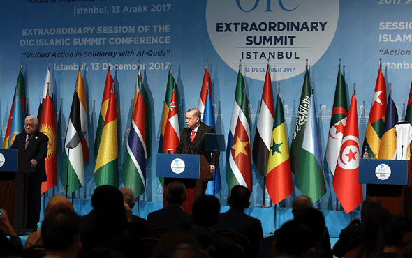 Erdoğan Trump ve İsrail'i topa tuttu! Abbas'dan boykot çıkışı
