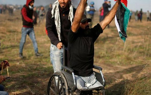 Filistinli engelli Ebu Süreyya şehit edildi