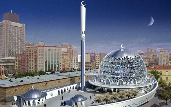Taksim Camisi hızla yükseliyor! İşte son hali...