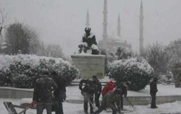 Edirne hava durumu kötü kar yağışı için alarm