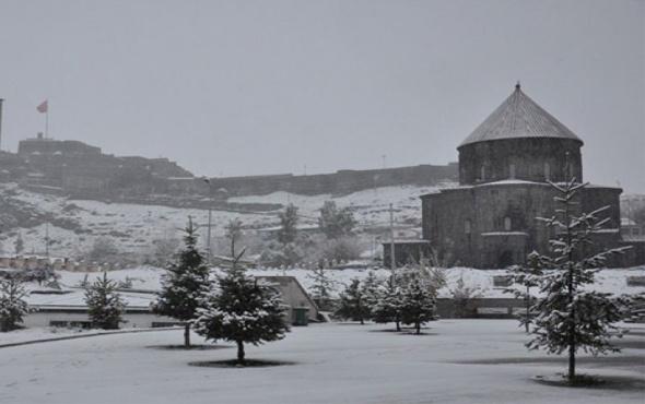 Kars hava durumu kötü kar yağışı için alarm