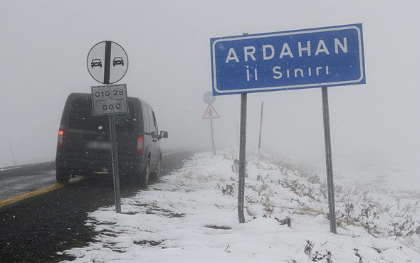 Ardahan hava durumu kötü kar yağışı için alarm