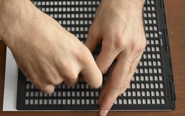 """Ankara'da görme engellilerden """"Her Yerde Braille"""" kampanyası"""