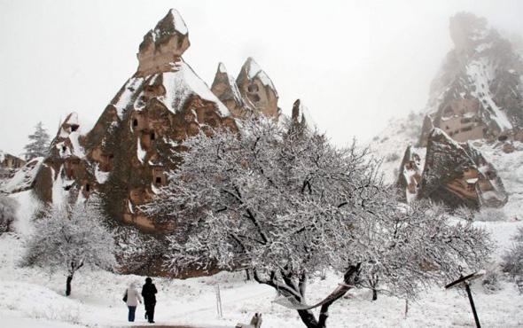 Nevşehir hava durumu okulları tatil ettirecek kar yağışı