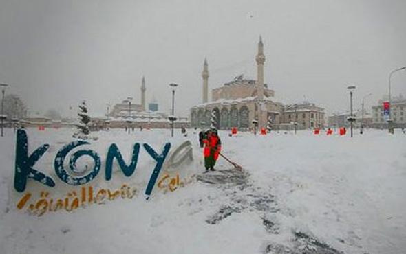 Konya hava durumu okulları tatil ettirecek kar yağışı