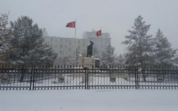 Kars hava durumu okulları tatil ettirecek kar yağışı