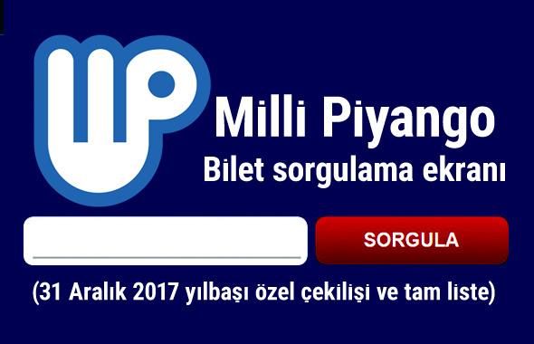 Milli Piyango tam liste yılbaşı amortiler (Milli Piyango bilet sorgula)