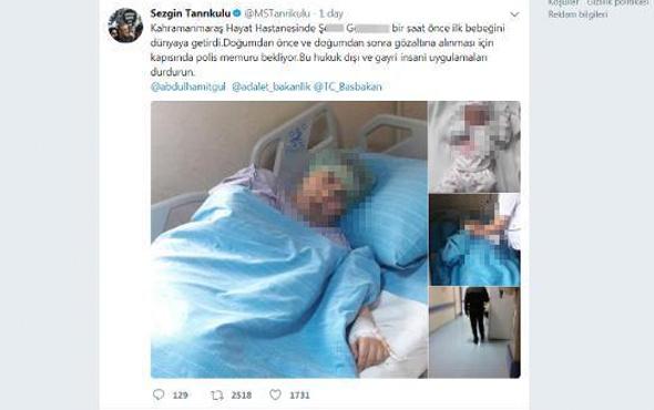 Doğum yapan FETÖ şüphelisi için polis bekliyor iddiasına yalanlama