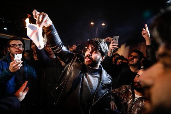 ABD Başkonsolosluğu önünde 'Kudüs kararı' protestosu
