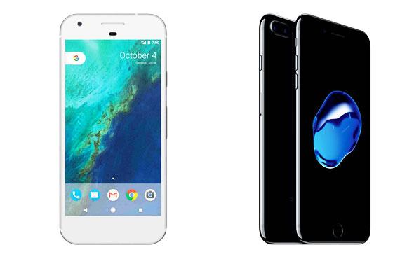 Google Pixel iPhone 7 Plus kıyasıya rekabetinde sonuç