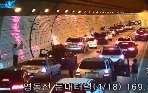 Güney Kore'de ambulansa bakın nasıl yol açtılar