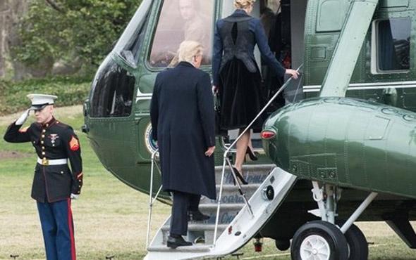 Trump taziyeye eşi yerine kızıyla gitti