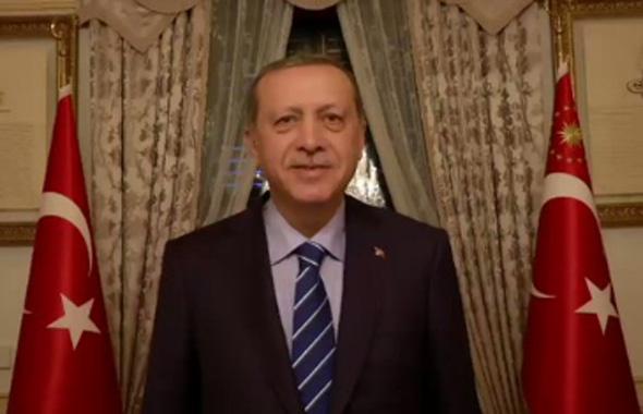 Erdoğan twitter'dan teşekkür etti!