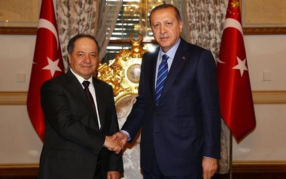 Mesut Barzani'den Erdoğan açıklaması