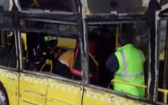 Servis minibüsü metrobüse çarptı!.. Yaralılar var!