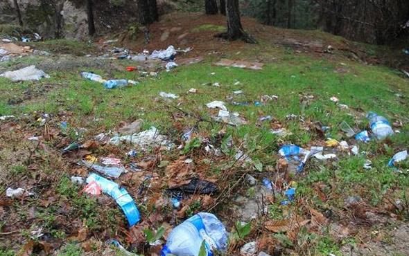 Hava ısındı Kaz  Dağları çöplüğe döndü