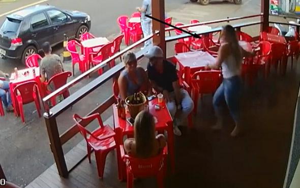 Kendisini aldatan kocasını böyle dövdü