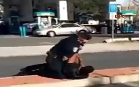 ABD'de polisten teslim olan şüpheliye feci dayak