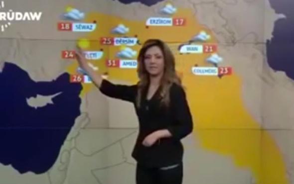 Hava durumundaki harita olay oldu! Türk toprakları