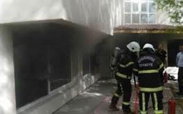 Kapatılan FETÖ'nün kız yurdunda yangın