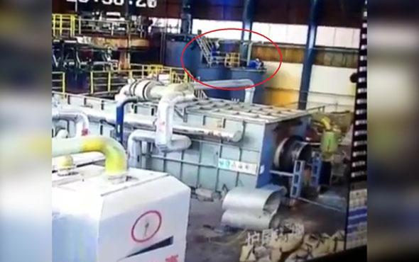 Fabrikada feci kaza: Tanker böyle patladı